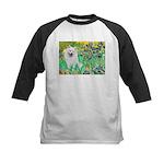 Irises / Eskimo Spitz #1 Kids Baseball Jersey
