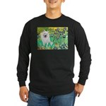 Irises / Eskimo Spitz #1 Long Sleeve Dark T-Shirt