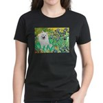 Irises / Eskimo Spitz #1 Women's Dark T-Shirt