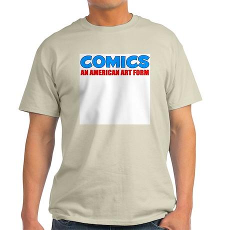 """Comics: An American Art Form"" Ash Grey T-Shirt"