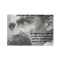 Group Insanity: Nietzsche Rectangle Magnet (10 pac