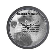 Group Insanity: Nietzsche Wall Clock