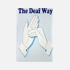 The Deaf Way Rectangle Magnet