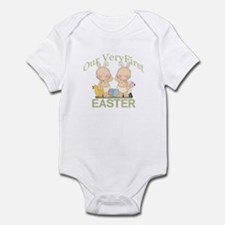 Our First Easter TWINS Onesie
