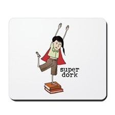 Super Dork Girl Mousepad