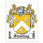 Fanning Coat of Arms Small Poster
