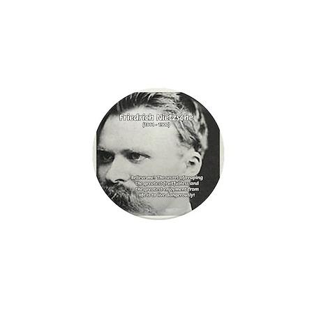 Nietzsche: Live Dangerously Mini Button