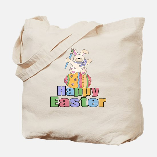 Happy Easter Artist Bunny Tote Bag