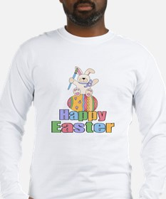 Happy Easter Artist Bunny Long Sleeve T-Shirt