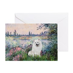 Seine / Eskimo Spitz #1 Greeting Card