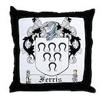 Ferris Coat of Arms Throw Pillow