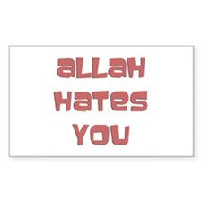 allah hates you Rectangle Decal
