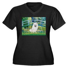 Bridge / Eskimo Spitz #1 Women's Plus Size V-Neck