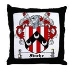 Finche Coat of Arms Throw Pillow