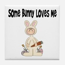 Bunny T Shirt Tile Coaster