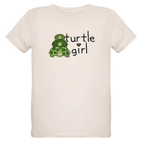 turtle girl Organic Kids T-Shirt