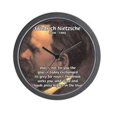 Master of Prose: Nietzsche Wall Clock