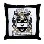 Fitz-Simmons Coat of Arms Throw Pillow