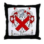 Fitz-Thomas Coat of Arms Throw Pillow