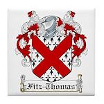 Fitz-Thomas Coat of Arms Tile Coaster