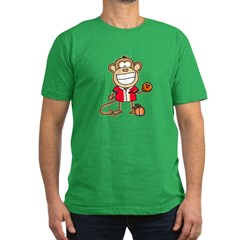 Bowling Monkey Men's Fitted T-Shirt (dark)