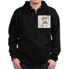 Autism Monkey Zipped Hoodie