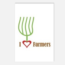 I Heart Farmers Postcards (Package of 8)