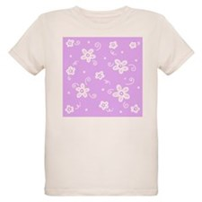Flowers in Pale Fuchsia T-Shirt