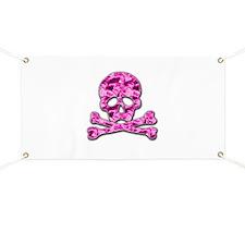 Pink skull Banner