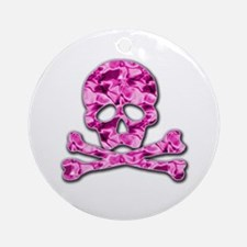 Pink skull Ornament (Round)