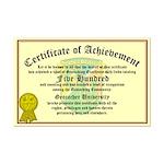 Certificate of Achievement - 500 Finds!