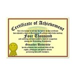 Certificate of Achievement - 4000 Finds!