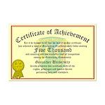 Certificate of Achievement - 5000 Finds!