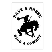 Save a Horse Ride a Cowboy Postcards (Package of 8