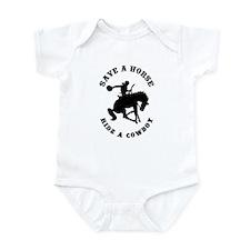 Save a Horse Ride a Cowboy Infant Creeper