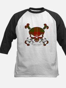 Cameron Tartan Skull Kids Baseball Jersey