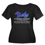 Baby - Coming Soon! Women's Plus Size Scoop Neck D