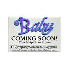 Baby - Coming Soon! Rectangle Magnet