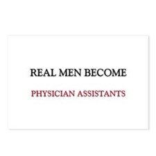 Real Men Become Physician Assistants Postcards (Pa