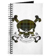 Campbell Tartan Skull Journal