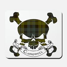 Campbell Tartan Skull Mousepad