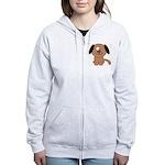 Brown Puppy Women's Zip Hoodie