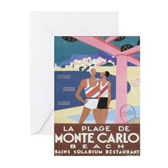 Monte Carlo Art Deco Greeting Cards (Pk of 20)