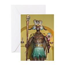 Zulu Warrior Cards Greeting Card
