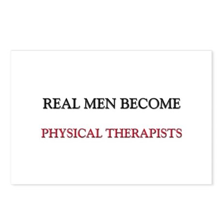 Real Men Become Physical Therapists Postcards (Pac