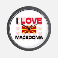 I Love Macedonia Wall Clock