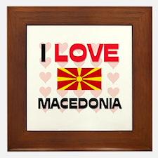 I Love Macedonia Framed Tile