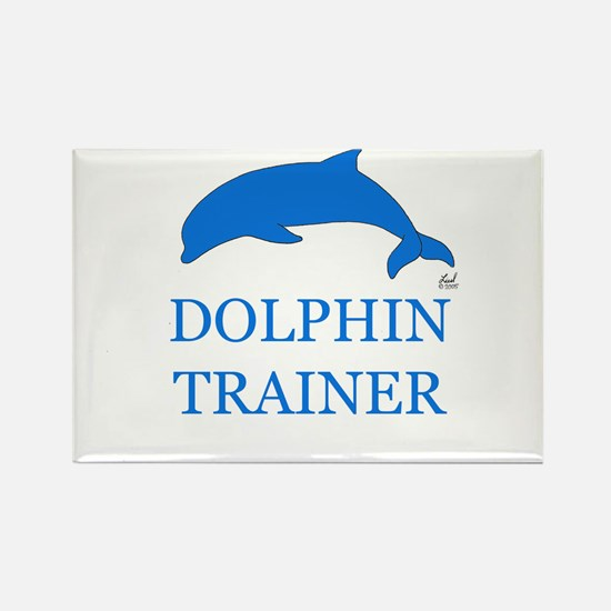 Dolphin Trainer Rectangle Magnet