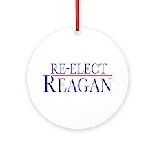 Re-Elect Reagan Ornament (Round)