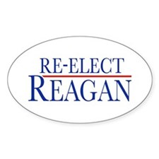 Re-Elect Reagan Oval Decal